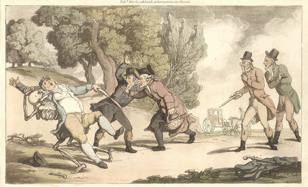 Thomas Rowlandson - The Duel