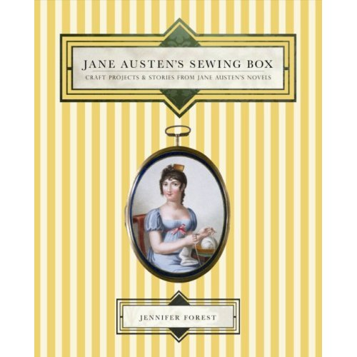 book cover jane austens sewing box