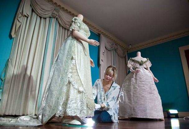Image Princess Charlotte 39s 1816 wedding dress at Kensington Palace