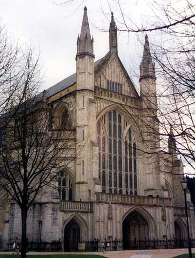 austen is buried in winchester