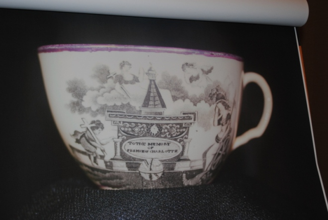 "Sprayberry's commemorative teacup ""To the Memory of Princess Charlotte"""