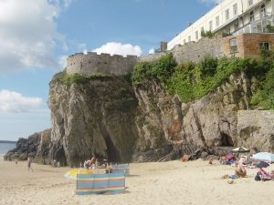 Tenby is built on a limestone shelf, cTony Grant