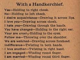 flirtation rules 1800s 2