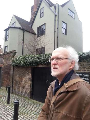 Ron Dunning outside Canonbury Tower