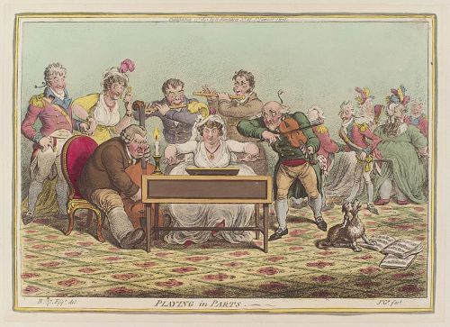 Playing in Parts, James Gillray (1801) - Wikipedia Commons