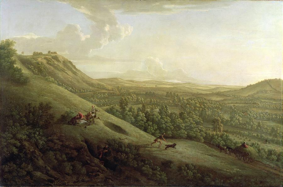 A view of Box Hill, Surrey - George Lambert