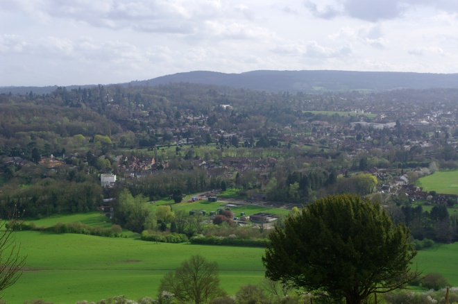 Town of Dorking below