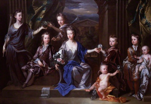 NPG 5320; The Children of John Taylor of Bifrons Park by John Closterman