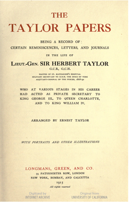 Title page of The Taylor Papers Jane Austen in Vermont