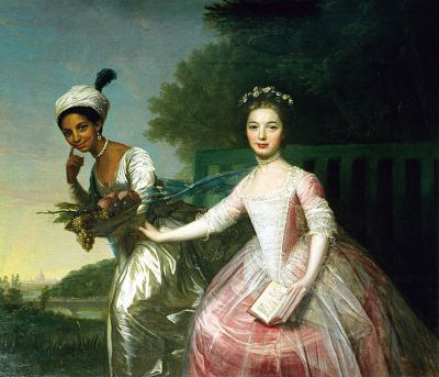 Dido Belle (left) and Elizabeth Murray