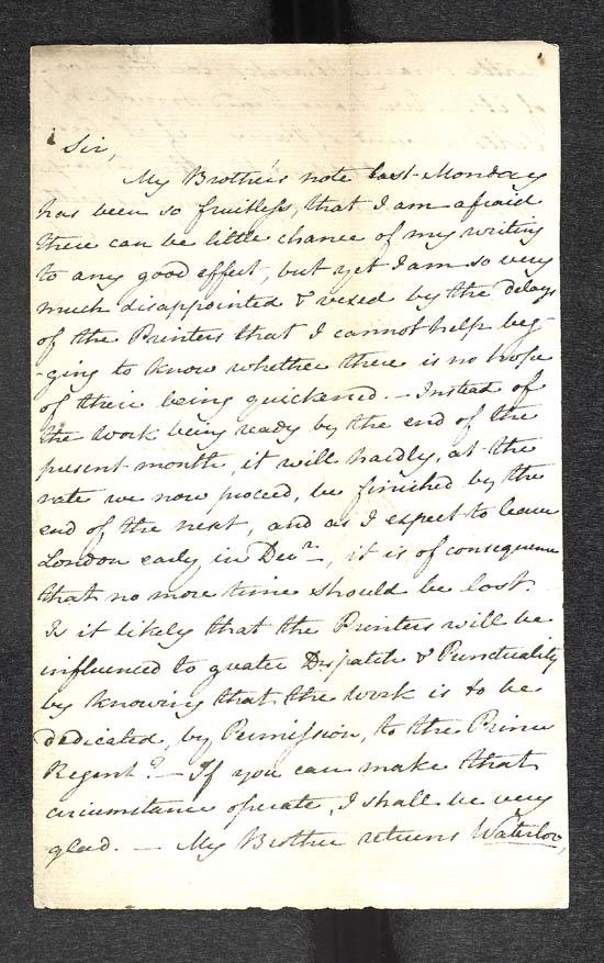 JA letter to Murray 23 Nov 1815