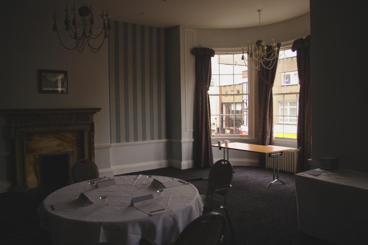 Bay window in the ballroom