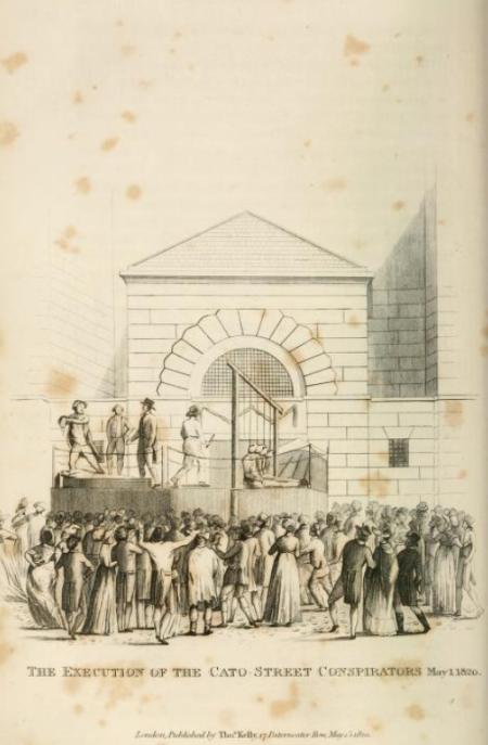 Cato St execution - Newgate