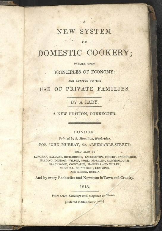 Domestic Cookery, 1813 ed (Wikipedia)