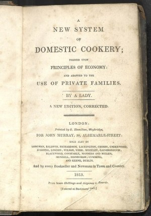 Domestic Cookery, 1813 ed (Wikipedia)