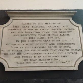 Memorial to Samuel Cooke