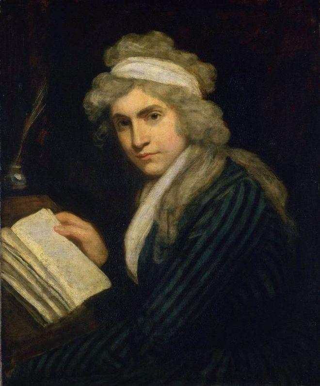 Mary Wollstonecraft, by John Opie 1790-91 (Wikipedia)