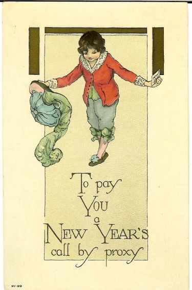 New Years postcard