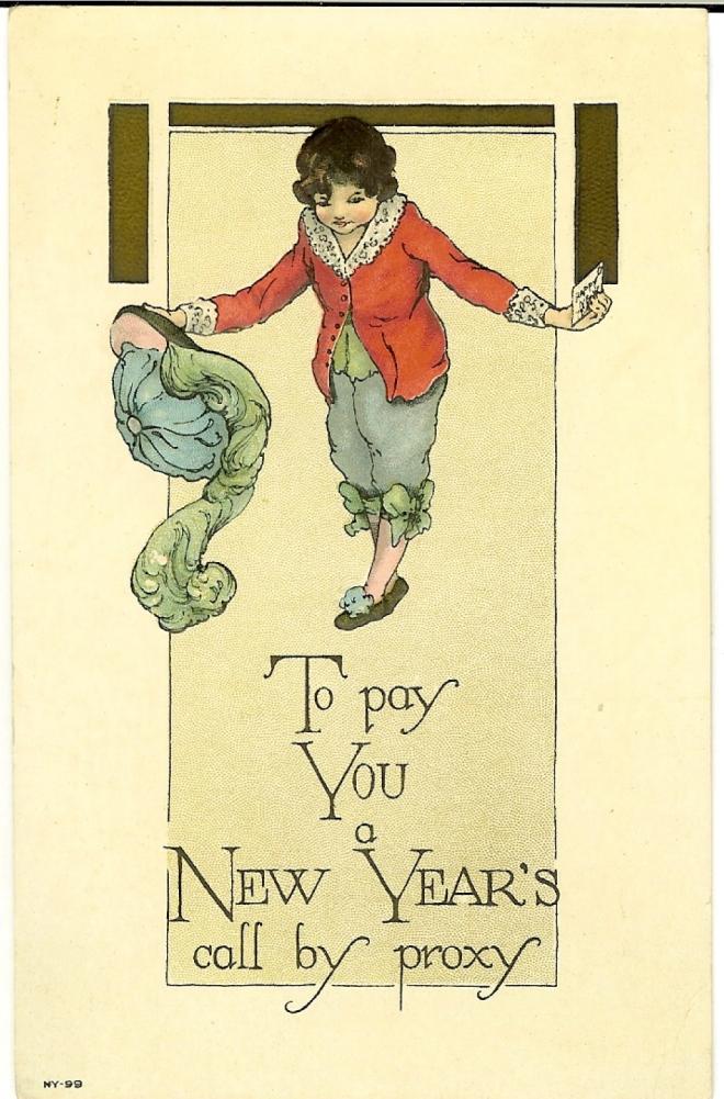 New Years postcard